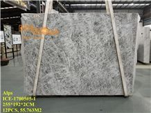 China Zhechuan Silver Fox Alps White Marble Tiles & Slabs