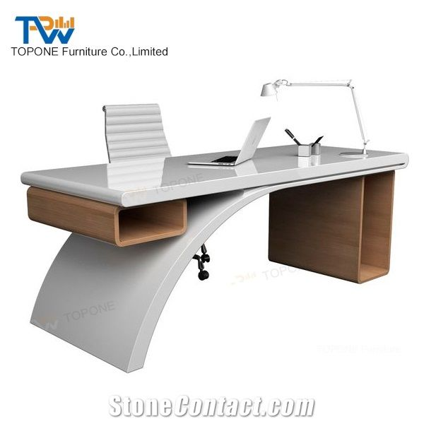 Artificial Marble Stone Latest Office Table Designs High Tech Executive Office Desk Tops Interior Stone Acrylic Solid Surface Office Furniture Table From China Stonecontact Com