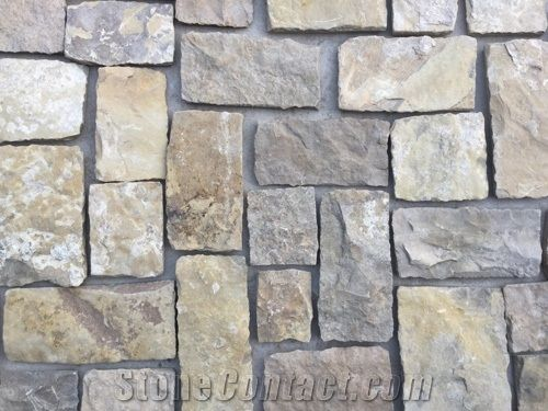 Beige Yellow Sandstone Castle Villa Stone Walkway Pavers