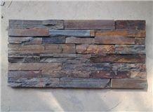 China Hebei Rusty Slate Veneers Wall Cladding Stone Glued Panels Stacked Stone Cultured Stone Ledge Stone Wall Decoration