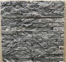 Grey Black Wooden Grain Zabra Marble Stone Veneers Cultured Stone Wall Cladding Tiles Panels Stacked Stone Glued Wall Tiles Stone Wall Decor