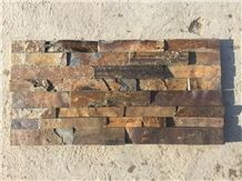 Natural Rusty Slate Stone Rough Surface Cultured Stone Stacked Stone Veneers Glued Stone Wall Cladding Panels