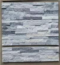 Natural White and Grey Quartzite Veneers Stone Wall Cladding Panels Cultured Stone Stacked Stone Veneers Glued Stone Panels Ledge Stone