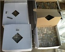Slate Floor and Wall Mosaic Tiles with Carton Packing Paving Stone Mosaic Tiles Tumbled Mosaics