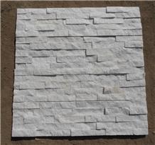 White Quartzite Cultured Stacked Stone Cladding Ledger Wall Panel