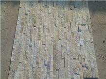 White Wall Cladding Cultured Stone Stacked Stone Veneers Ledge Stone Glued Wall Panels