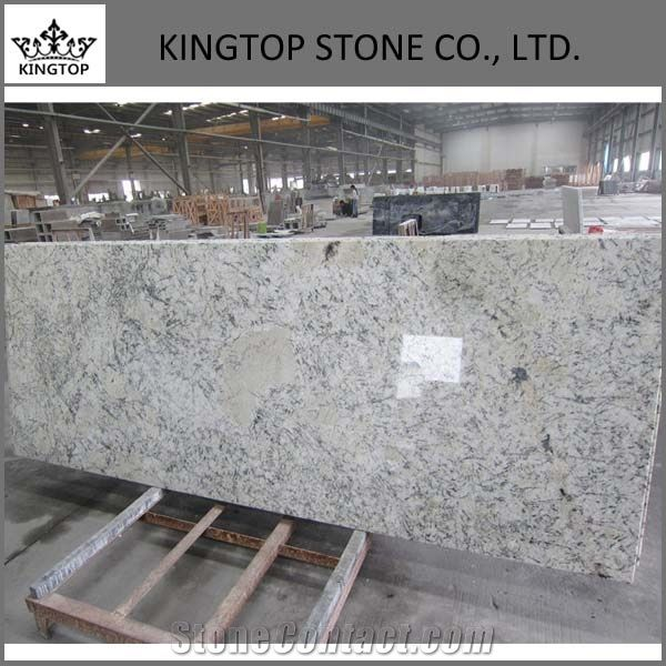 Brazil Blue Ice Granite Prefab Kitchen Countertop Islands Top