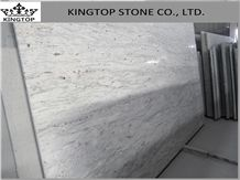 India Quarry New River Valley White Granite Flamed Slabs