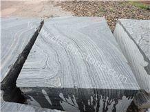 Black Wood Vein Marble Stone Blocks&Slabs&Tiles, Antique Wooden/Silver Wave/Antico Wood/Rosewood Grain Black/Black Forest Marble Stone Block