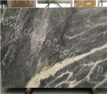 China Ash Grey Marble Slabs&Tiles, Cloudy Gray/Aether Grey/Cloud Grey&Gray Marble Stone Flooring/Bathroom Background