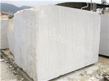 China Carrara White Marble Stone Block, Guangxi White/White Veins/China Bianco Carrara White Marble Stone Block