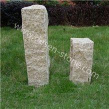 G682 Yellow Granite Palisades/Pillars/Kerbstone/Curbstone