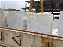 Guangxi White Marble Stone Block, China Carrara White Marble Stone Block, China White Marble Block&Slabs&Tiles, Guangxi White Grain/White Vein Marble