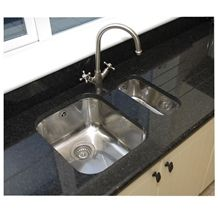 Angola Black Granite Kitchen Countertops/ Granite Tops,Antique Brown/Angola Brown/Spectrolite Brown Granite, Honed Finish Black Granite Countertop