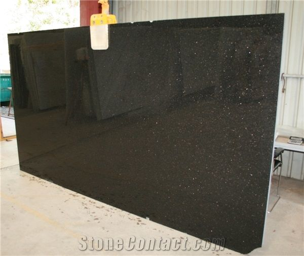 Black Galaxy Granite Big Slabstilesfloor Tileswall Tiles India