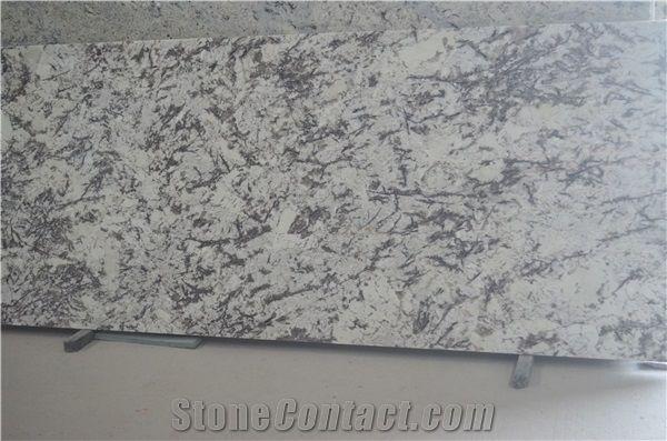 Brazil Snow White Granite Slabs, Brazil Snowflake Granite