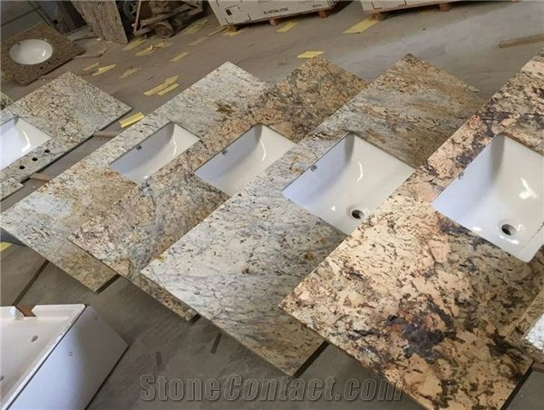 Cream Yellow Granite Vanity Tops
