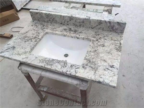 Bathroom Vanities With Tops.Ice Blue Granite Bathroom Vanity Tops Vanities Brazilian White