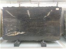 Matrix Titanium/Cosmic Black Granite Slabs