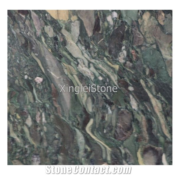 Peacock Green Marble Slabstilesfloor Green Marble From China