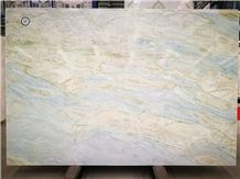 China Changbai White Jade Blue Dragon Veins Marble Slab&Tiles