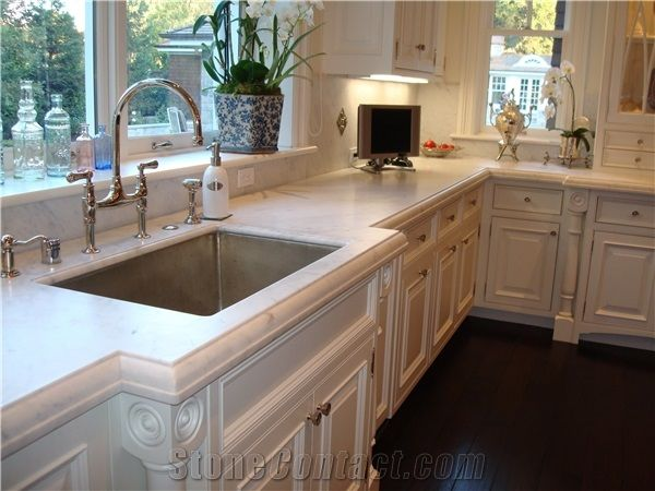 Dupont Edge Sink Cut Out Marble Kitchen