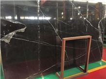 Black Nero Marquina Marble,China Black Marble,Nero Marquina Venato, Black & White Marble