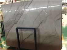 Guangxi White Marble, White Marble Black Veins