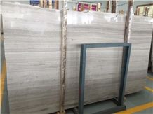 Wooden White Marble Slab, Wooden White Marble Panel
