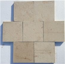 Hauteville D (Beige) Tiles, Resin-Filled