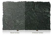 Saratoga Black Soapstone Enhanced Surface Finish Slabs