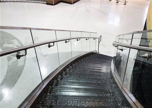Terrazzo Staircase Project At Louisville International Airport