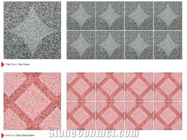 Sandblasted Terrazzo Tile from Turkey - StoneContact com