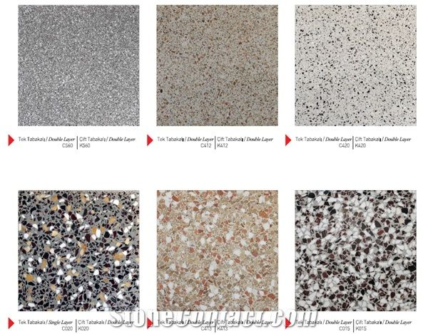 Single Double Layer Terrazzo Tile From Turkey Stonecontact