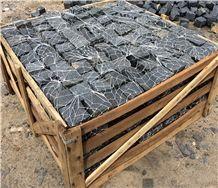 G684 Black Basalt Pavings,Cube Stone,Cobble Pavers Exterior Stone