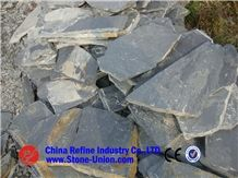 Cheap Black Random Slate Price ,Natural Stone Material Rusty Color Random Paving Slate,Irregular Random Rusty Slate Flagstone Paving Tiles