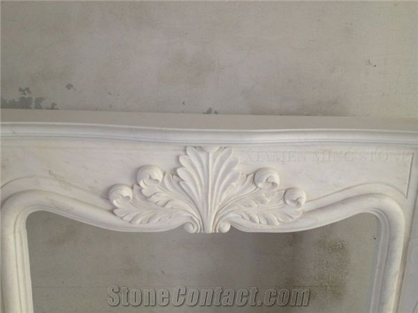 A Quality Oriental White Marble Fireplace Hearth Fireplace Mantel