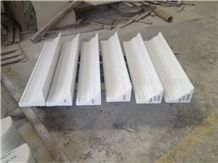 Pure White Marble Interior Border Lines,Wall Molding Skirting