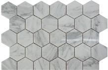 Carrara White Marble Mosaic Tiles,Hexagon Mosaic,Floor,Wall,Backsplash