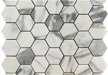 Wholesales White Arabescato Marble Wall Tile, White Marble Mosaic,