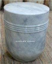 White Snow Onyx Cremation Urns