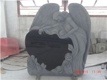 Angel Engraved Headstones Custom Monument Designs
