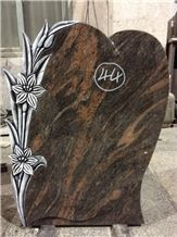 Aurora Carved Stone Tombstone Headstone Gravestone