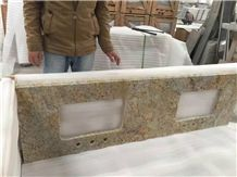 China Professional Countertop Manufactory ,Giallo Ornament Granite Top