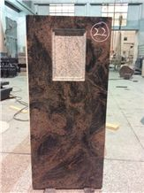 High Quality Good Price Natural Quarry Stone Customized Size Haobo China Factory Beautiful Carved Aurora Granit Headstone Designs for Sale
