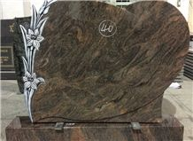 Himalaya Blue Granite Carving Headstone Design for Cemetery