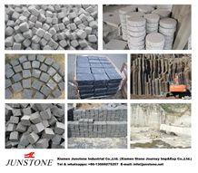 G603 Cube Stone,Cobble Pavers for Plaza, Black Basalt Cubes,Pavers
