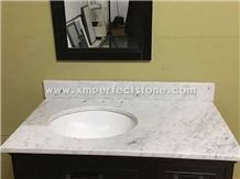Bianco Carrara Vanity Tops, Bianco Carrara Bathroom Tops, Bianco Carrara Custom Vanity Tops, Bianco Carrara Bath Countertops, Bianco Carrara Bathroom