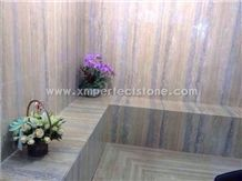 Roman Silver Travertine Slabs & Tiles, Grey Travertine Floor Tiles