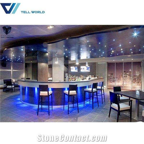 Modern Round Luxury Led Bar Counter Acrylic Lighted Bar ...